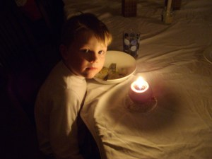 Sebastian by candlelight