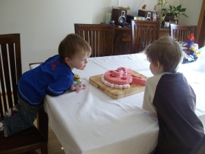 Zac's birthday party 001