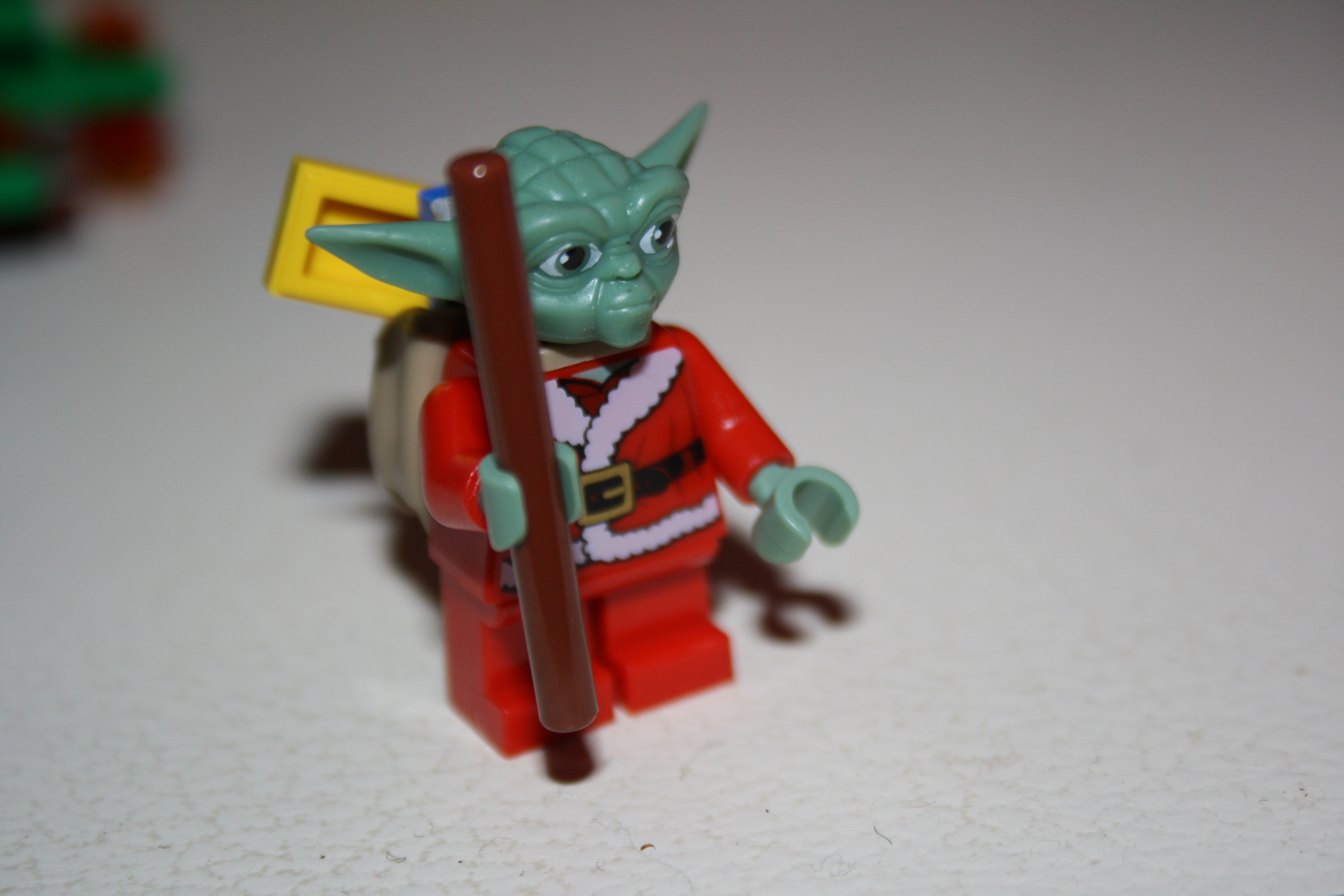father christmas yoda complete with sack full of presents
